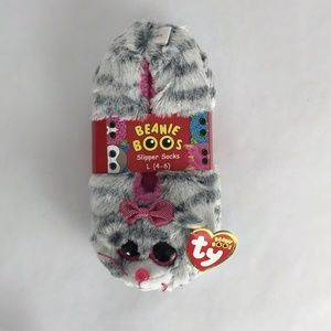 KiKi Ty Beanie Boos Slipper Socks Size Large (4-6)